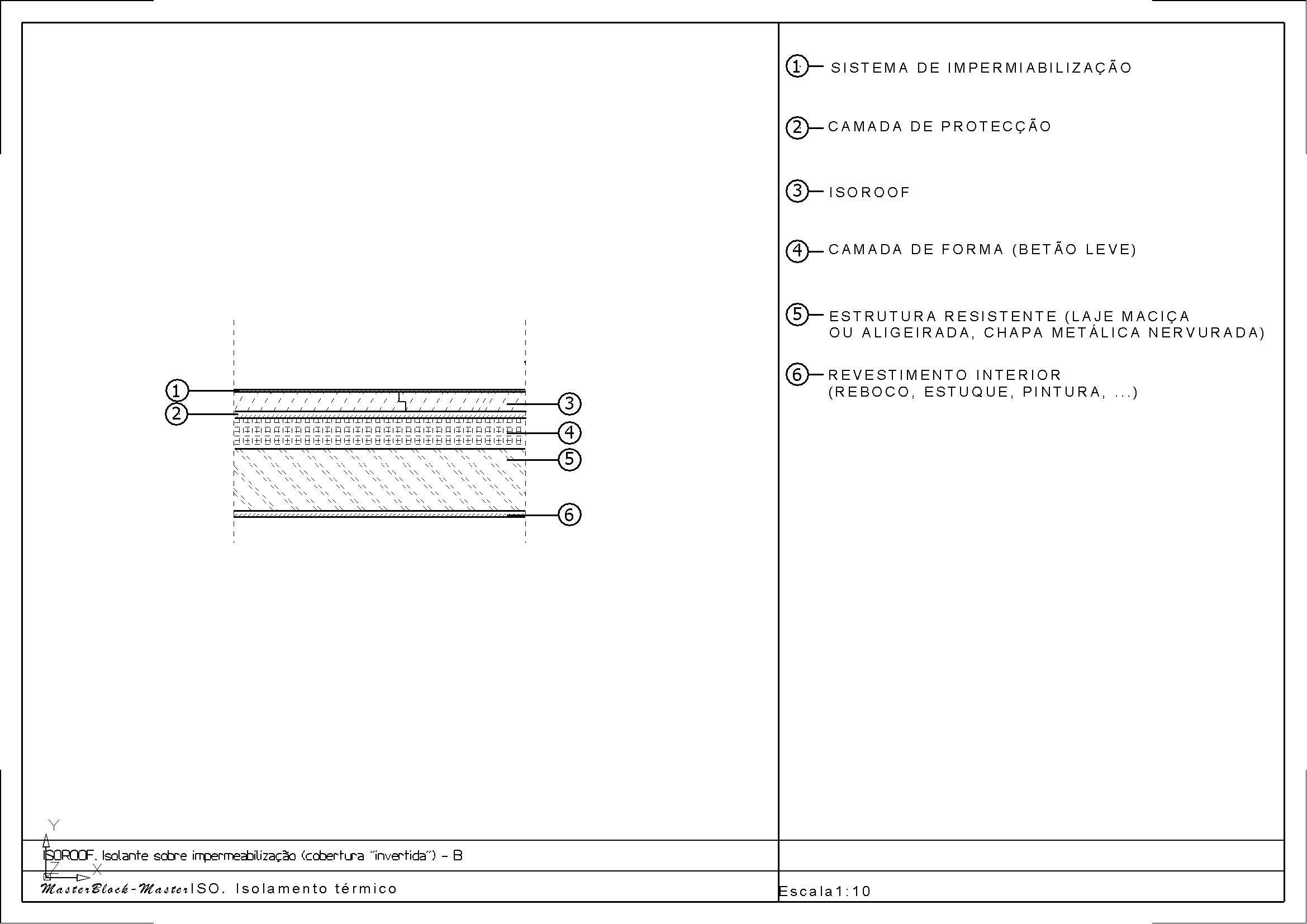 003 Isoroof Isolante sobre impermeabilização (cobertura  #515151 2339x1654 Banheiro Acessivel Cad Blocos